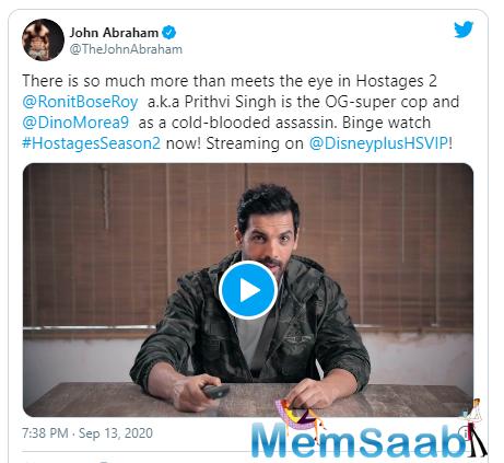 Khel Ab Palat Chuka Hai! Watch Hotstar Specials presents Hostages Season 2, streaming now on Disney + Hotstar VIP.