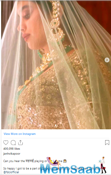 Sharing the photos on Instagram, the Dhadak actress wrote,