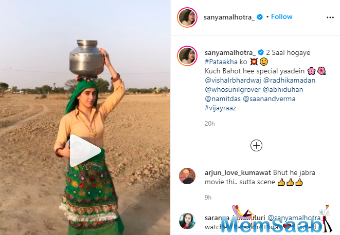 The video shared by the actress shows what went into adapting the rural mannerisms. The actress nailed the diction and bit right into the feel of a village girl. Her on-screen presence and charisma is not something one can miss out on.
