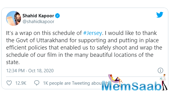 Jersey is a remake of Gowtam Tinnanuri's 2019 Telugu film. The Hindi version is also being directed by Gowtam Tinnanuri, who helmed the original.