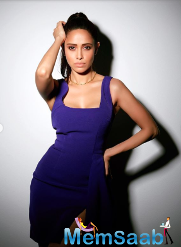 Nushrratt Bharuccha recently shared a few photos on Instagram, sizzling in a stunning purple dress. The actress looks every bit a diva in the high-slit dress.