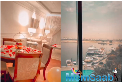 And now, they have flown to Dubai for their honeymoon and Singh has taken to his Instagram story and shared a glimpse of their hotel room that welcomed them with balloons and flowers.
