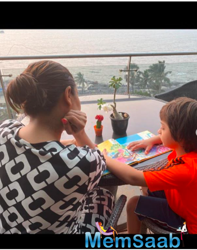 She took to her Instagram account to share a picture of the toddler where he could be seen reading Karan Johar's book The Big Thoughts of Little Luv all by himself.