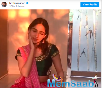 He shared a video of her dancing to the tunes of 'Mohe Rang Do Laal'.
