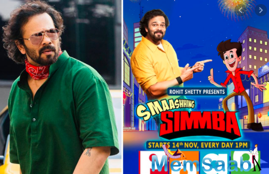 Filmmaker Rohit Shetty says the animated younger version of Ranveer Singh's superhit on-screen avatar Simmba reflects the blend of comedy and action that defines the original.