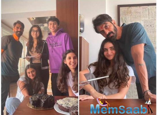 Arjun's girlfriend Gabriella Demetriades along with his daughters Mahikaa and Myra also joined the birthday boy for a celebration.