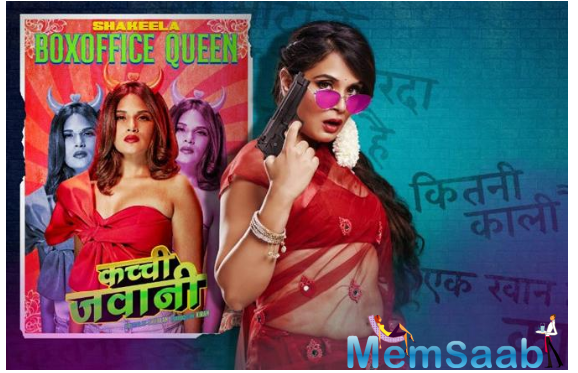 At first glance, it seems to imitate the 90s Shakeela films, but the poster itself is a testament to her triumph. Donning the walls next to the poster are remarks often hurled at her.