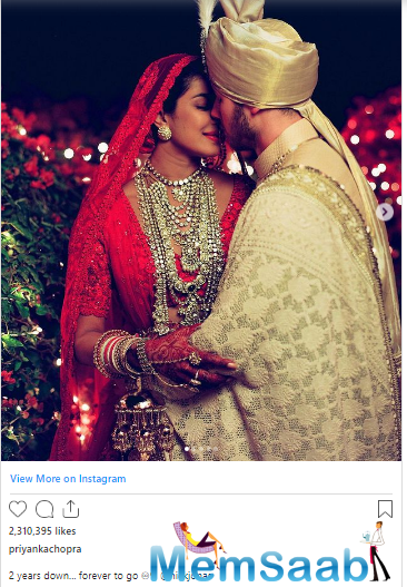 The duo celebrated their second wedding anniversary by sharing posts dedicated to each other on social media.