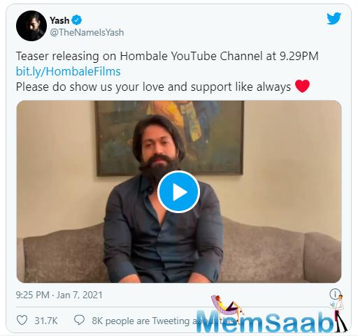 Sanjay Dutt, Yash share the official teaser of 'KGF ...