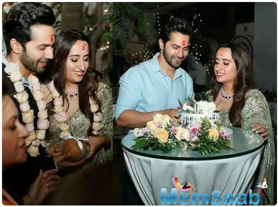 Ahead of their wedding, Varun Dhawan and Natasha Dalal had a roka ceremony in Alibaug.