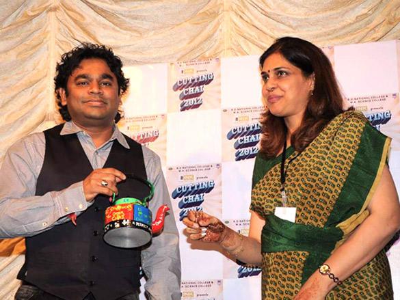 A R Rahman at National College's Cutting Chai  Festival