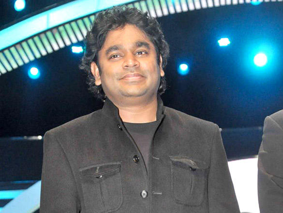 A R Rahman on the stage