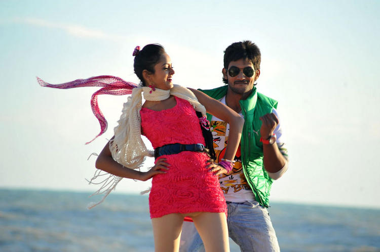 Aadi and Shanvi Lovely Movie Romantic Song Photo