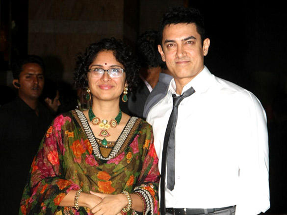 Aamir Khan,Kiran Rao at Riteish and Genelia's reception
