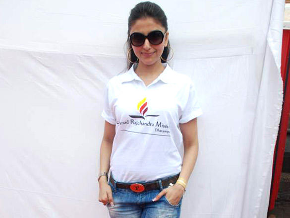 Aarti Chabria at Standard Chartered Marathon  2012