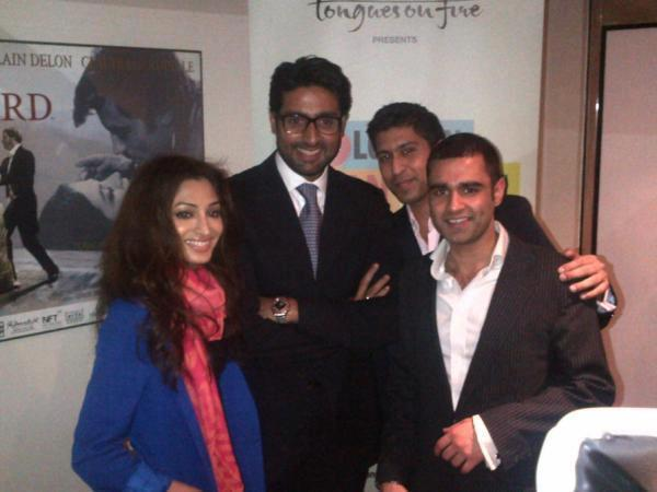 Abhishek Bachchan Poses at the London Asian Film Festival