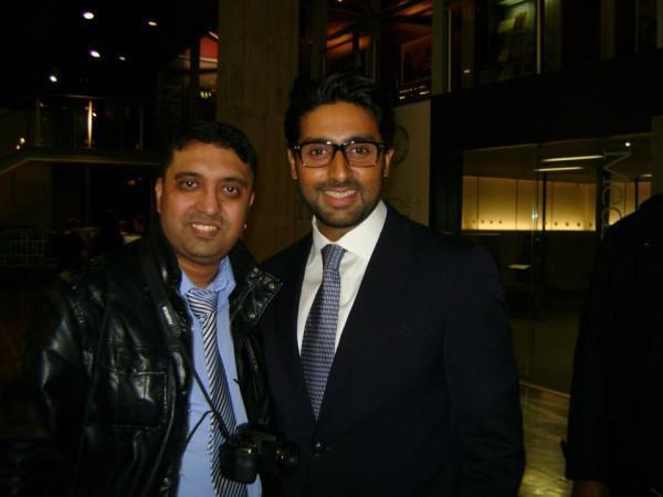 Abhishek Bachchan Smile Pic at the London Asian Film Festival
