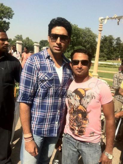 Abhishek Bachchan Spotted On The Sets Of Bol Bachchan