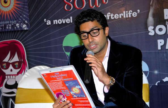 Abhishek at the Book Reading Session of Sorabh Pant's Debut Novel