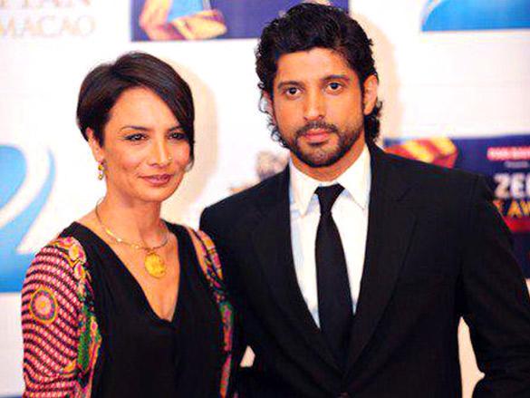 Adhuna Akhtar and Farhan Akhtar at Zee Cine Awards 2012