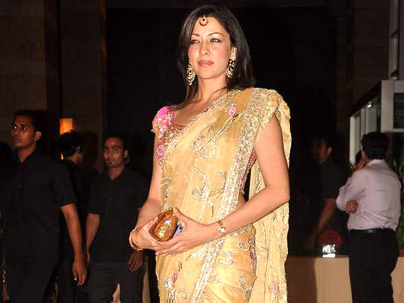 Aditi Govitrikar at  Riteish and Genelia's reception