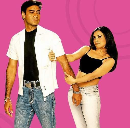 Ajay Devgan and Rani Cute Pose