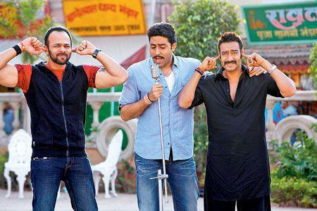 Ajay Devgn, Abhishek Bachchan and Rohit Shetty On The Sets of Bol Bachchan