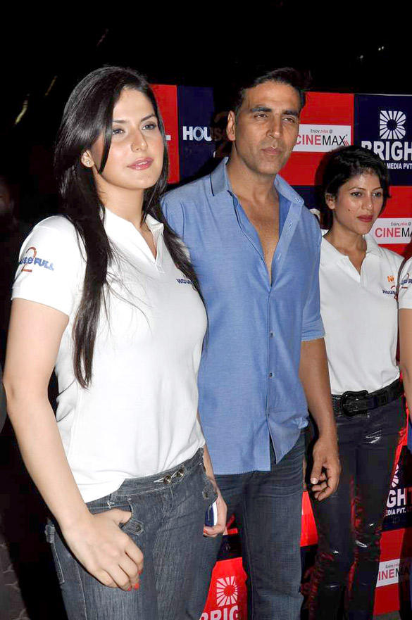 Akshay Kumar,Zarine Khan at Special screening of Housefull 2