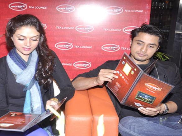 Ali Zafar and Aditi Rao Hydari visit  Wagh Bakri Tea Lounge