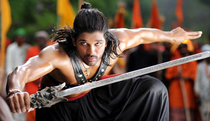 Allu Arjun Action Still in Badrinath Telugu Movie