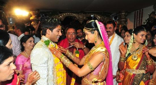 Allu Arjun Wedding Cute Photo