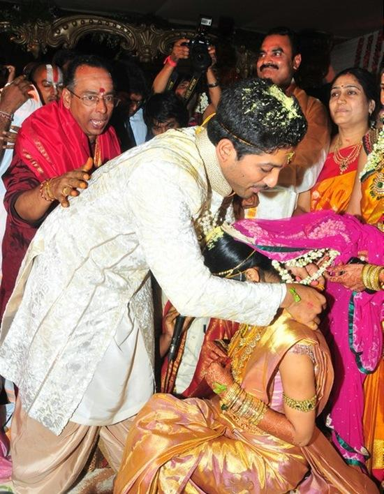 Allu Arjun Wedding Photo