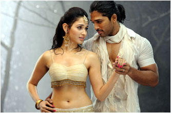 Allu Arjun and Tamanna Hot Still In Badrinath