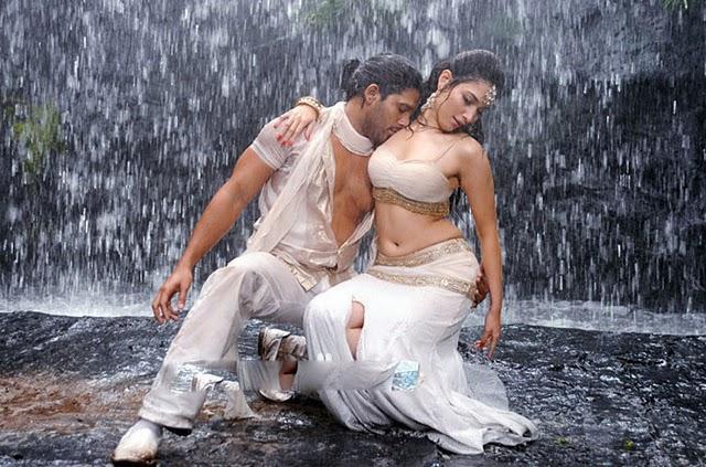 Allu Arjun and Tamanna Wet Hot Swim Still In Badrinath