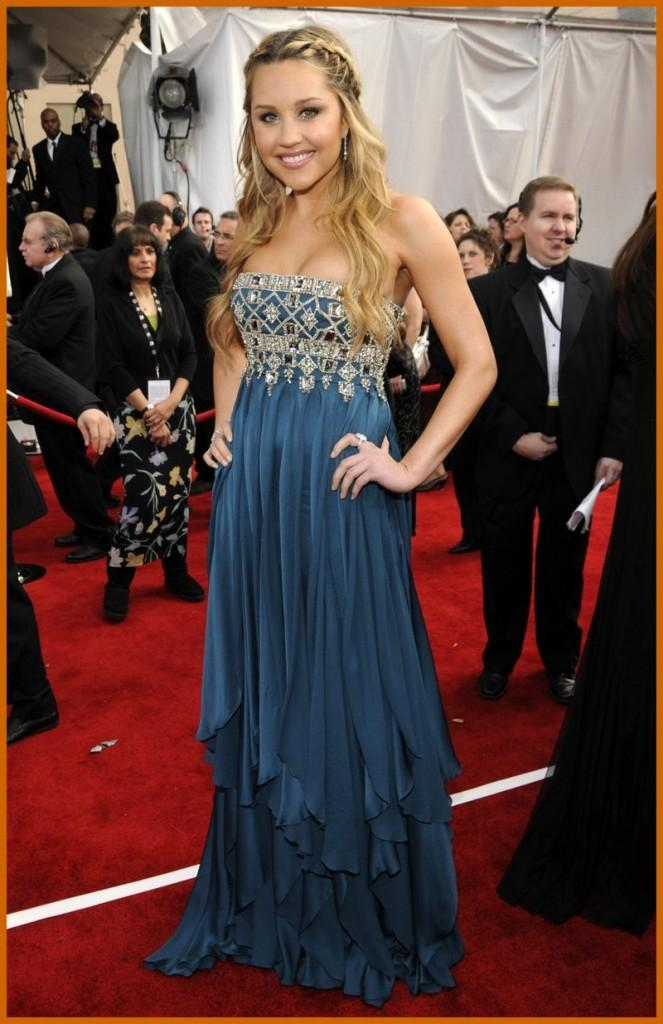 Amanda Bynes In Amazing Gown At The 4th Annual Screen Actors Guild Awards
