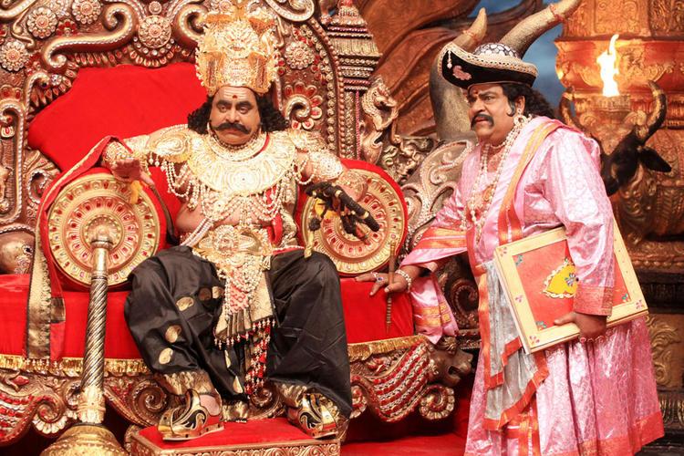 Ambarish Angry Pic In Katari Veera Surasundarangi Movie