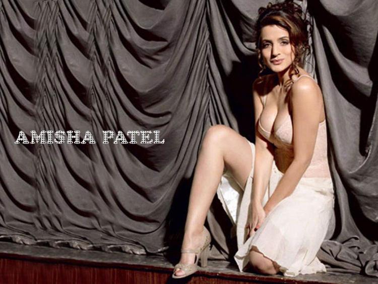 Amisha Patel Cleavage Show Off