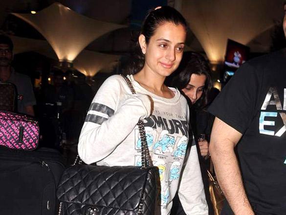Amisha Patel Spotted Returning from Dubai