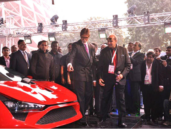Amitabh Bachchan Curious about the First Super Car by India
