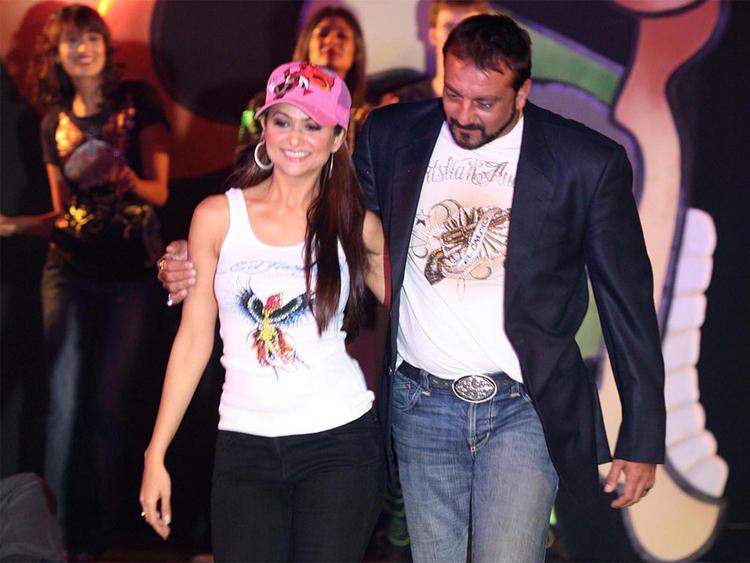 Amrita Arora with Sanjay Dutt Hot Pic