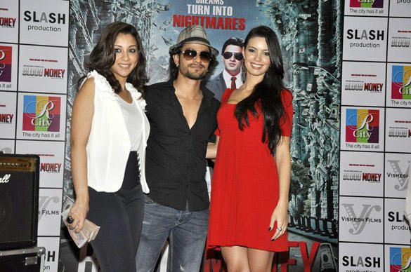 Amrita Puri,Kunal Khemu and Mia Uyeda at Blood Money Promotions at R-City