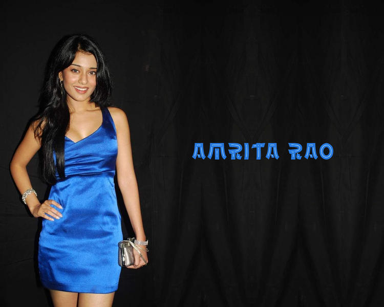 Amrita Rao Gorgeous Blue Dress Pic