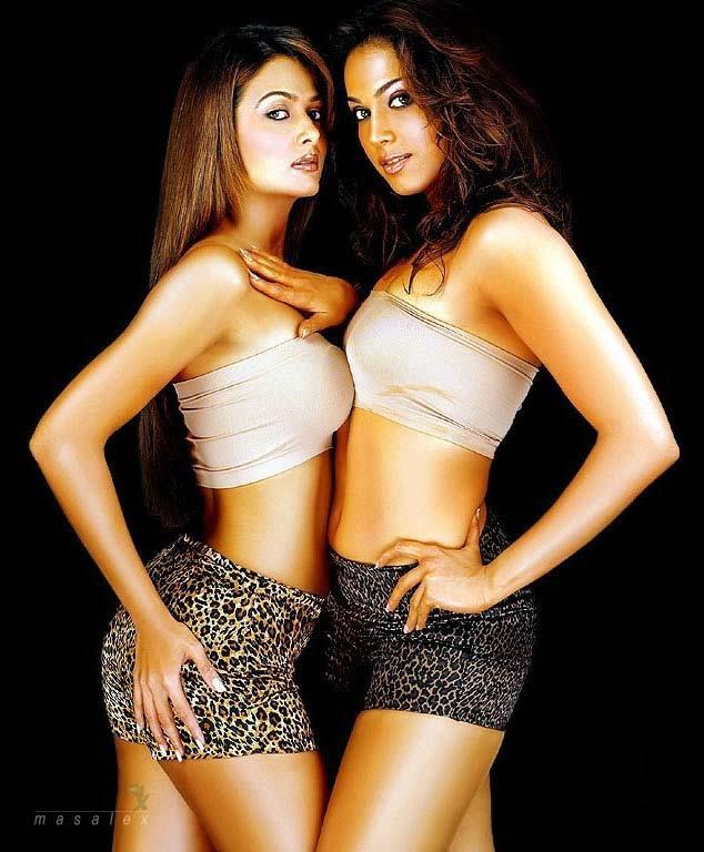 Amrita and Isha Mini Dress Latest Glamour Wallpaper