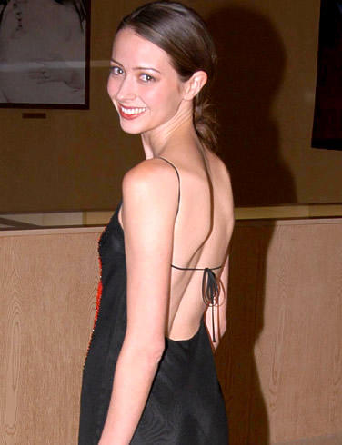 Amy Acker Sexy Back Bare Dress Still