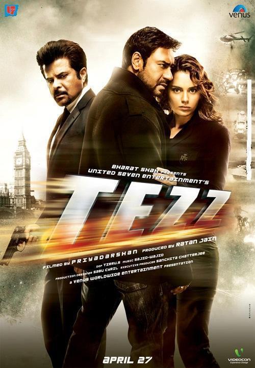 Anil Kapoor,Ajay Devgan and Kangana Ranaut In Tezz