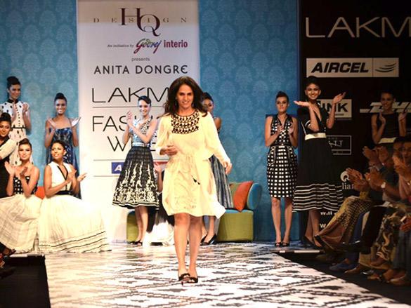 Anita Dongrewalk ramp at Lakme Fashion Week  Day 3
