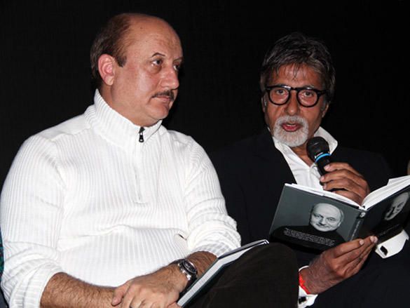 Anupam Kher and Amitabh Bachchan at Kher Book Launch