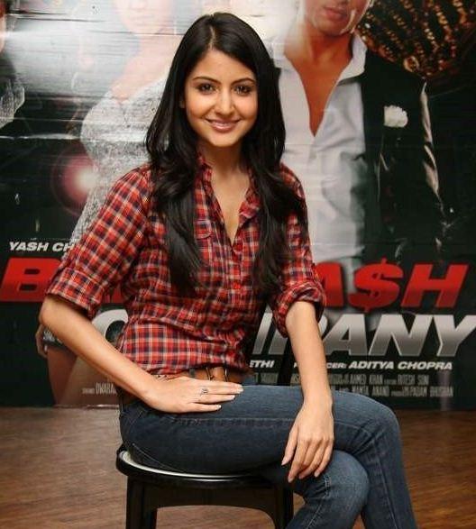Anushka Sharma Hot Photo With Shirt and Jeans