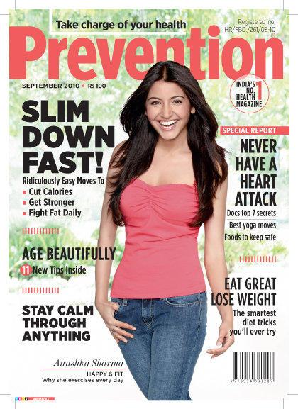 Anushka Sharma in Prevention Magazine