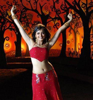 Anushka Shetty Red Dress Sexy Dance Still